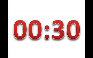 Po upływie 30 sekund nic się nie stanie