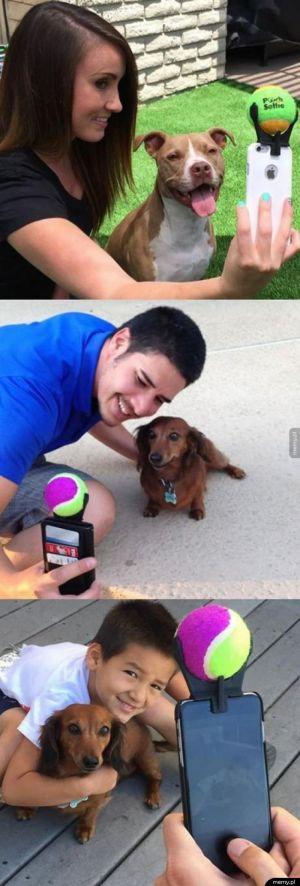 Sposób na selfie z psem