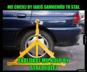 Zablokowany samochód