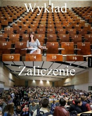 Wykład vs. zaliczenie