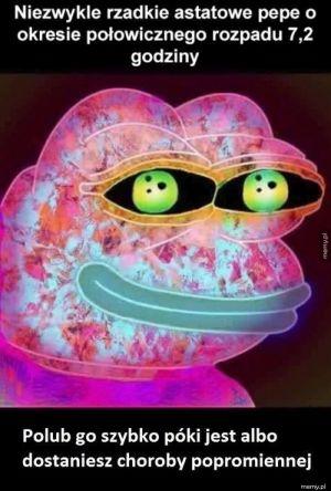 Niezwykle rzadki, astatowy Pepe