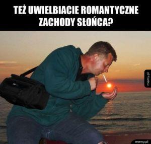 Romantyczny zachód słońca
