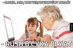Babcia wymiata na touchpadzie