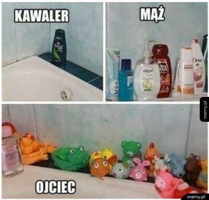 W łazience
