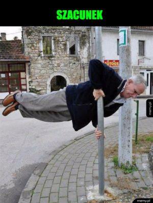 Sportowy dziadek