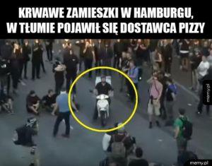Krwawe zamieszki w Hamburgu