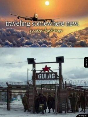 Podróżowanie do nowych miejsc