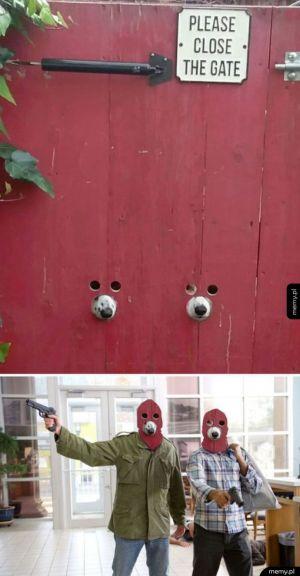 Prosimy zmykać bramę!