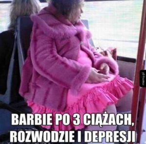 Barbie po 3 ciążach