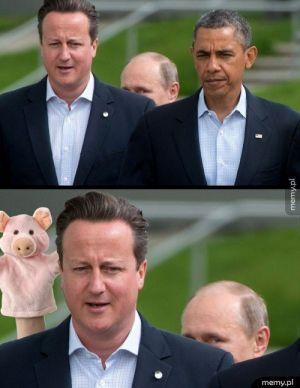 Cameron strollowany przez Putina