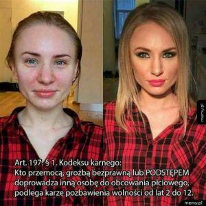 Makijaż to zło