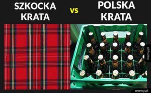 Szkocka krata vs polska krata