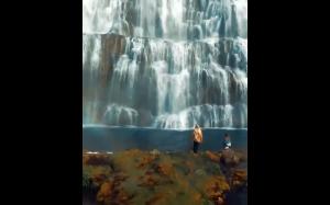 Wodospad Dynjandi - Islandia
