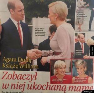 Agata Duda niczym księżna Diana