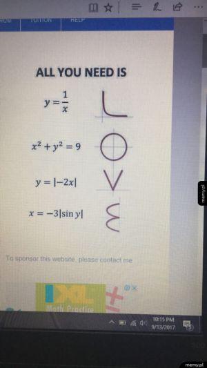 Wszystko czego potrzebujesz to matematyka