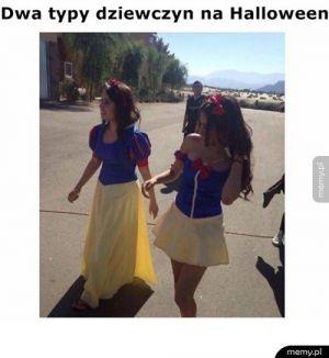Dwa typy dziewczyn na Halloween