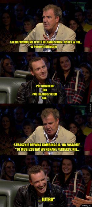 Jeremy Clarkson i Michael Fassbender