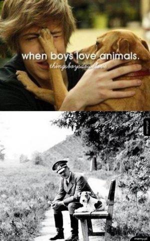 Chłopcy, którzy kochają zwierzęta