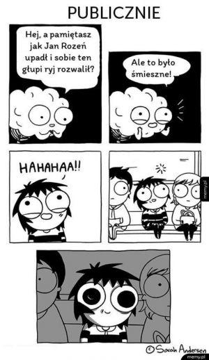Kiedy niespodziewanie przypomnisz sobie coś śmiesznego