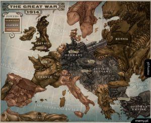 Mapa z czasów Wielkiej Wojny