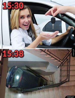 Kiedy pożyczysz dziewczynie swoje auto