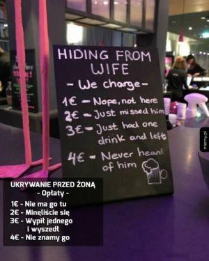 Ukrywanie przed żoną