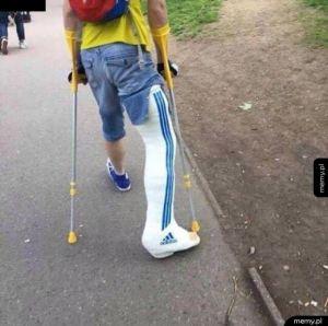 Seba złamał nogę