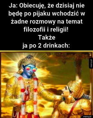 Nie będę po pijaku wchodzić na tematy religijne
