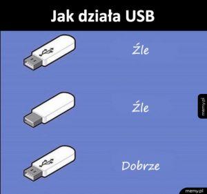 Działanie USB