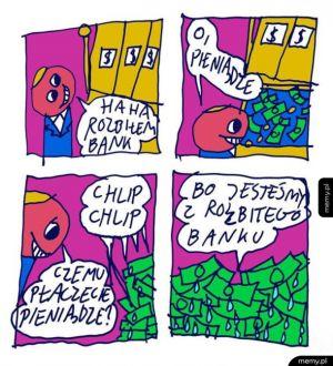 Pieniądze z rozbitego banku