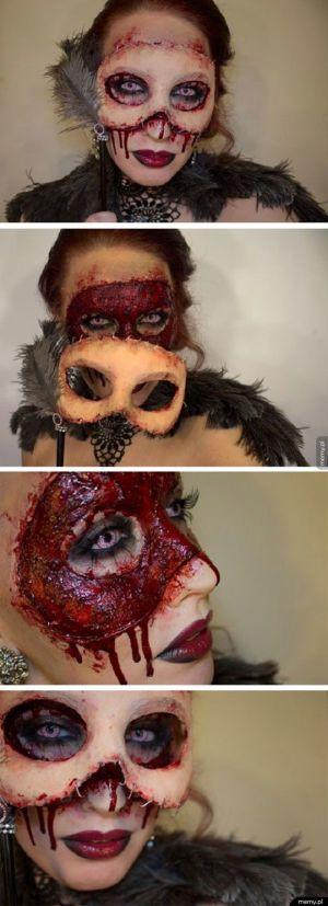 Przerażające przebranie na halloween