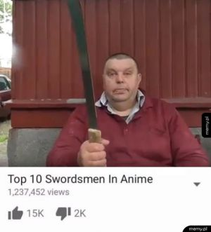Wielki wojownik z Anime