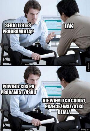 Rozmowa z programistą