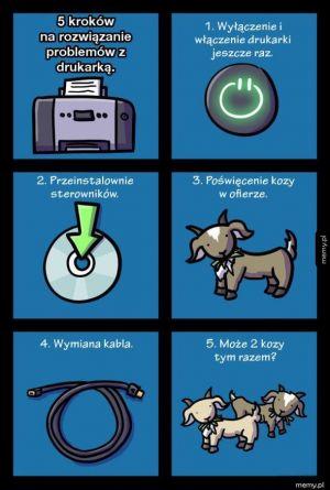 5 kroków na rozwiązanie problemu z drukarką