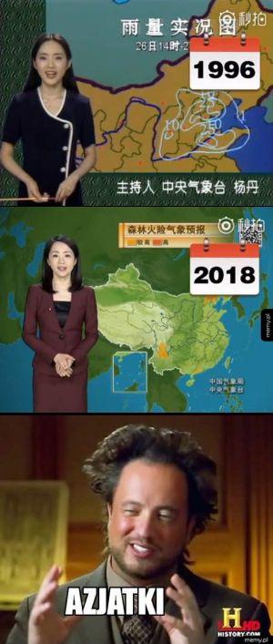 Tak przez 22 lata zmieniła się chińska pogodynka Yang Dan