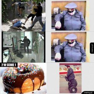 Gruby policjant