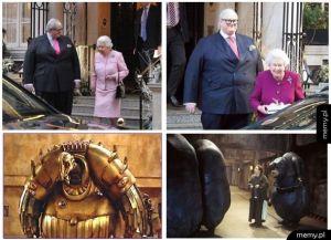 Buckingham Palace też ma swoich obcych ...