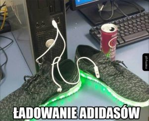 Świecące adidasy