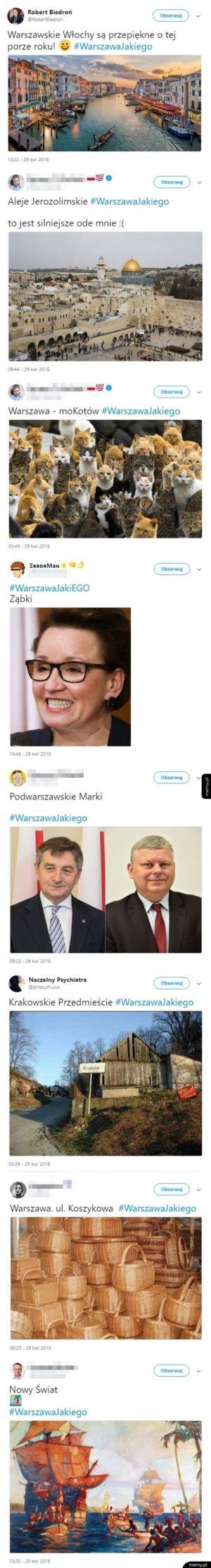 Warszawa według Patryka Jakiego