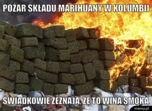 Pożar składu marihuany