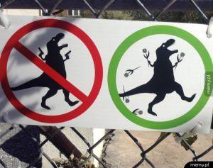 Agresywnym dinozaurom mówimy nie