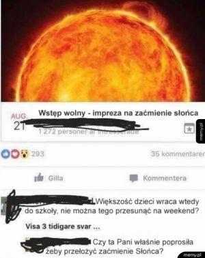 Zaćmienie słońca