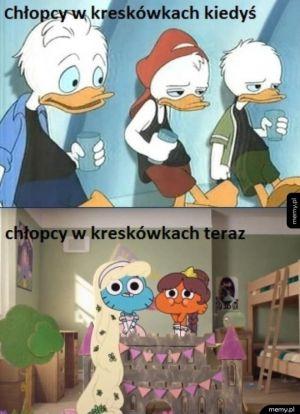 Kreskówki kiedyś i dziś