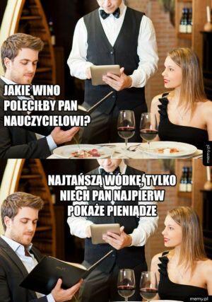Wino dla nauczycieli