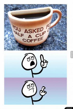 Pół filiżanki kawy