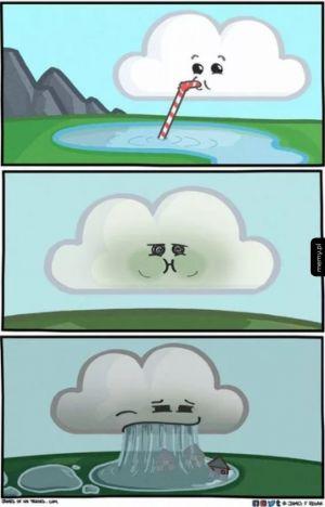 Tak powstaje deszcz