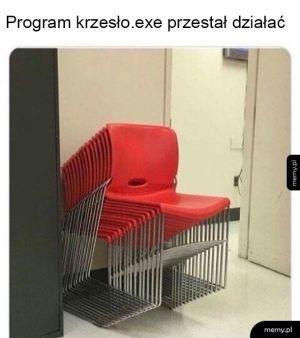 Program nie odpowiada
