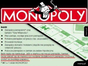 Pierwsza zasada bankowości centralnej