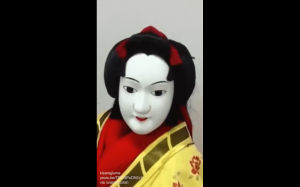 Japońska kukiełka z teatru Bunraku