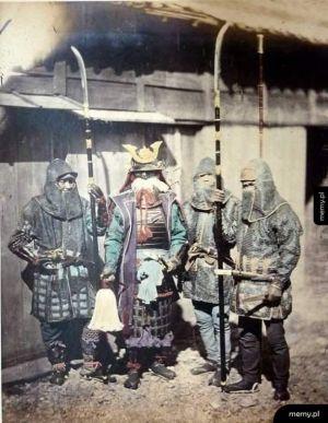 Zdjęcie prawdziwego samuraja i nobushi
